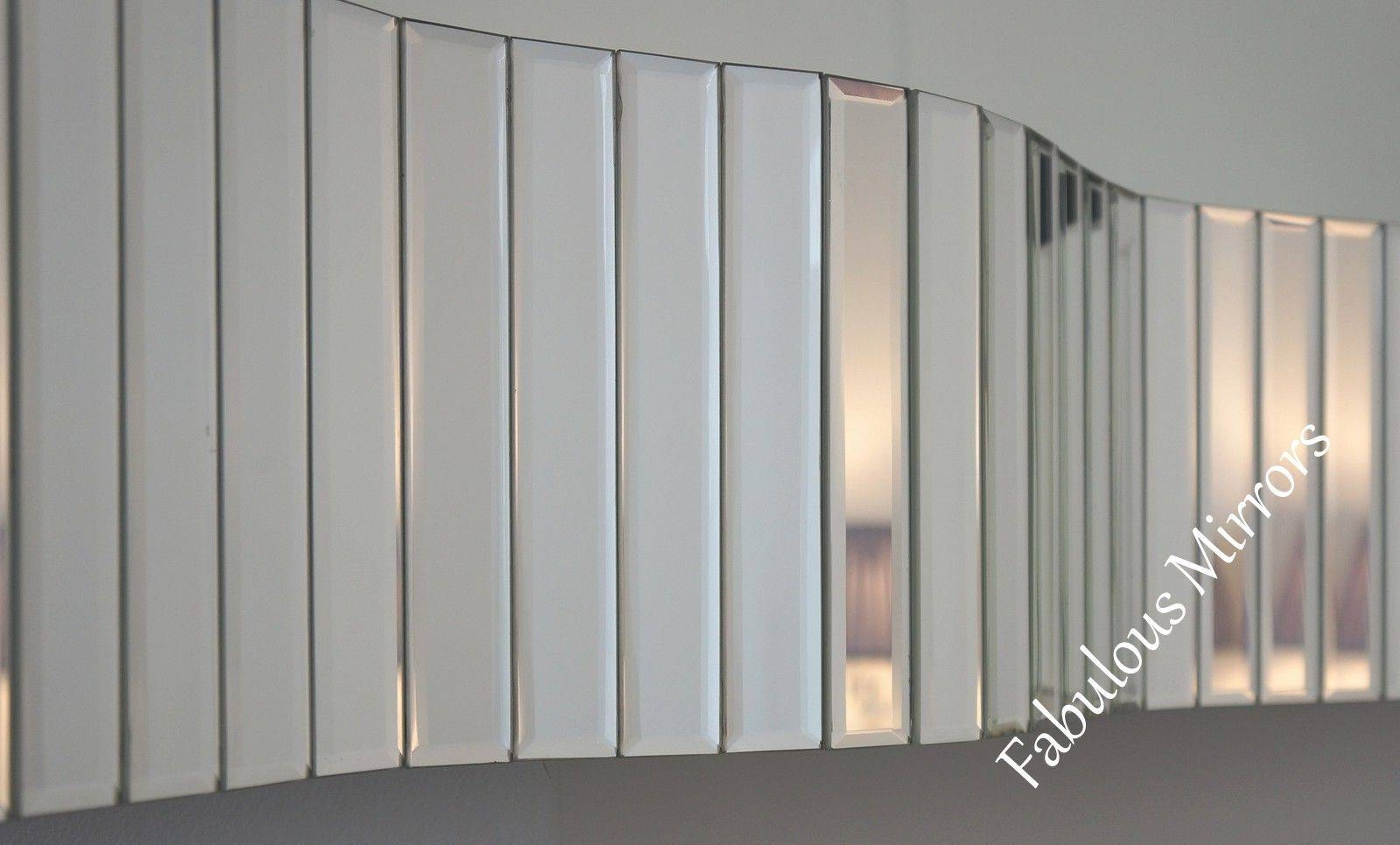 Large Stunning Contemporary Wave 3D Art Deco Inspired Venetian regarding Art Deco Venetian Mirrors (Image 17 of 25)