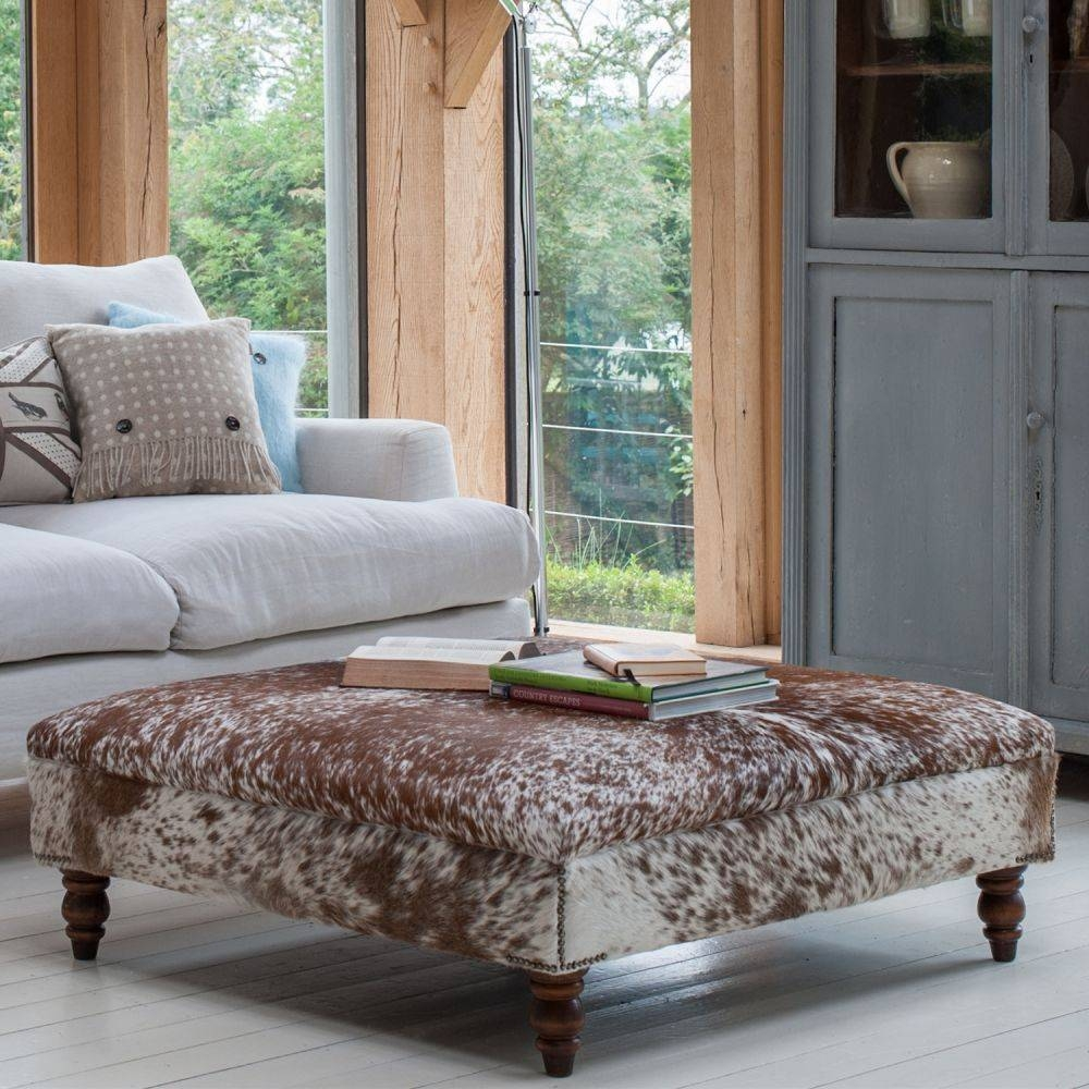 Large Upholstered Footstool | Ciov for Large Footstools (Image 26 of 30)