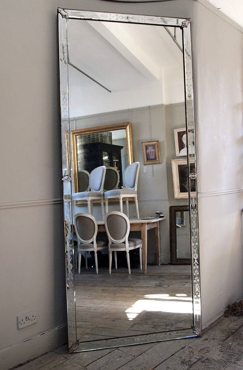 Large Venetian Bistro Mirror › Puckhaber Decorative Antiques in Large Venetian Mirrors (Image 11 of 25)