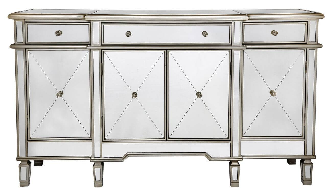 Large Venetian Mirrored Sideboard with Venetian Mirrored Sideboards (Image 9 of 30)