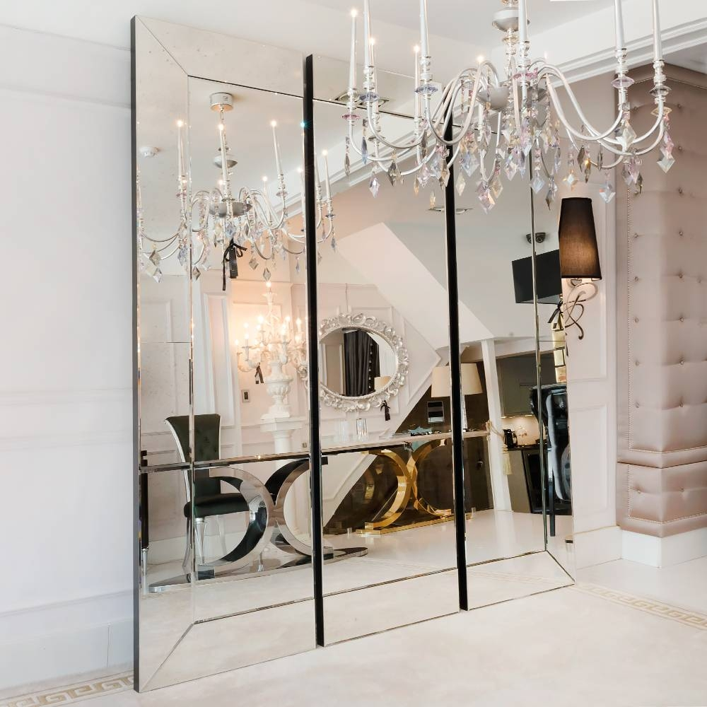Large Venetian Style Sectional Mirror | Juliettes Interiors regarding Venetian Glass Wardrobes (Image 6 of 15)