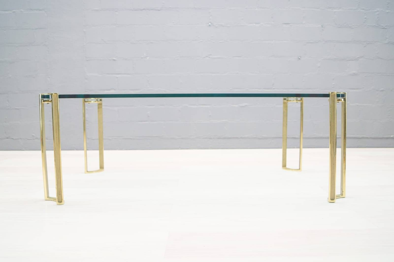 Large Vintage Brass And Glass Coffee Tablepeter Ghyczy For with Antique Brass Glass Coffee Tables (Image 27 of 37)