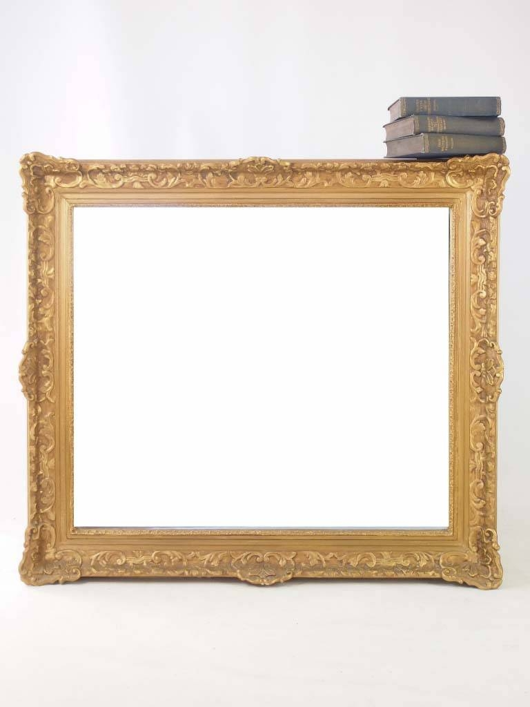 Large Vintage Gilt Framed Mirror - - with Gilt Framed Mirrors (Image 16 of 25)