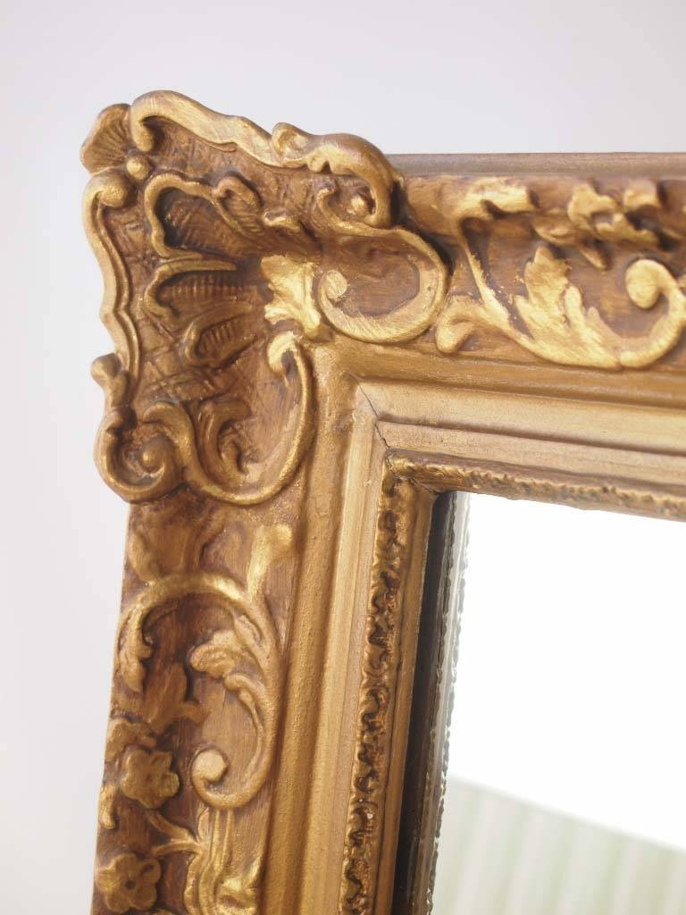 Large Vintage Gilt Framed Mirror - - with regard to Gilt Framed Mirrors (Image 18 of 25)