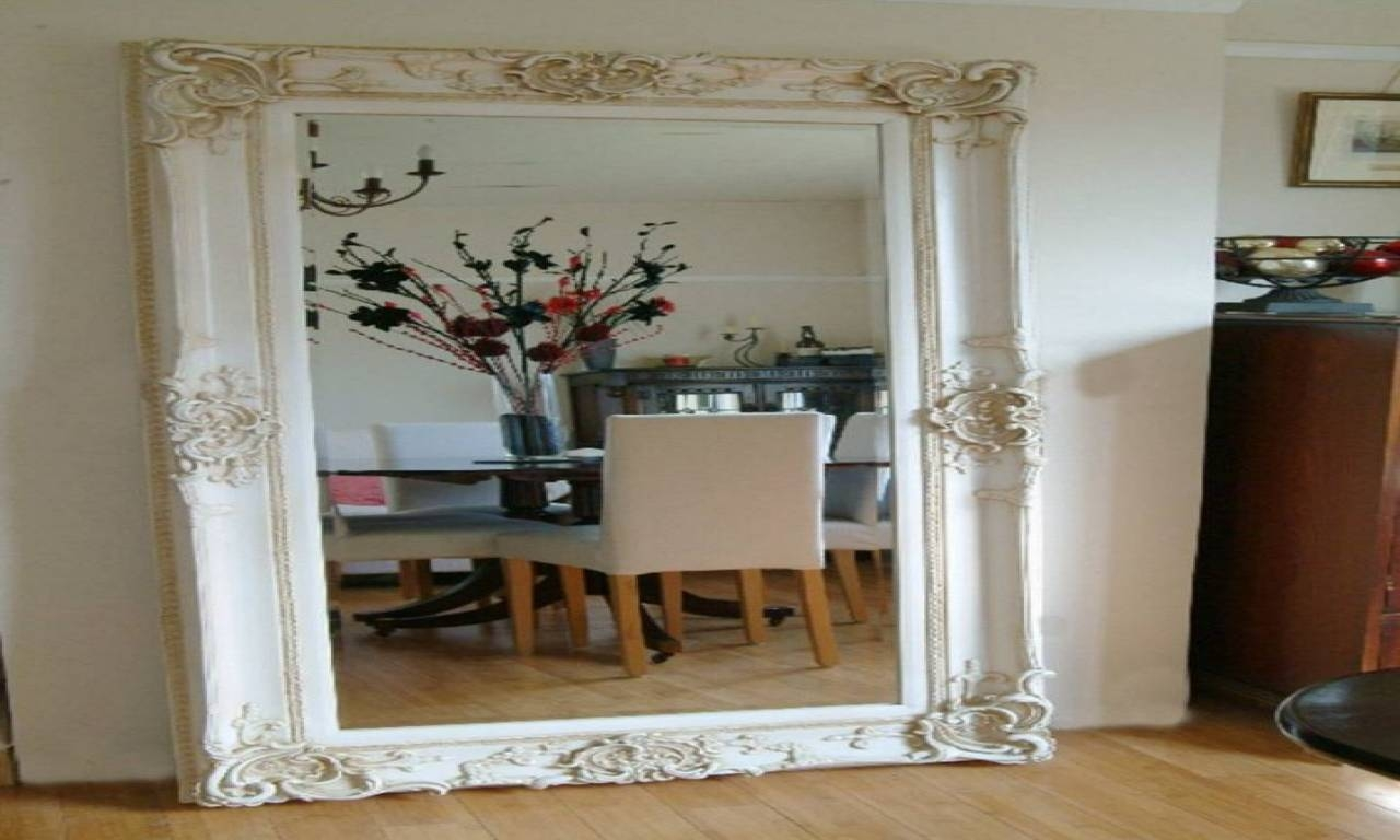 Large Wall Mirror With Frame 97 Cute Interior And Cool Black Table intended for Large Wall Mirrors (Image 15 of 25)