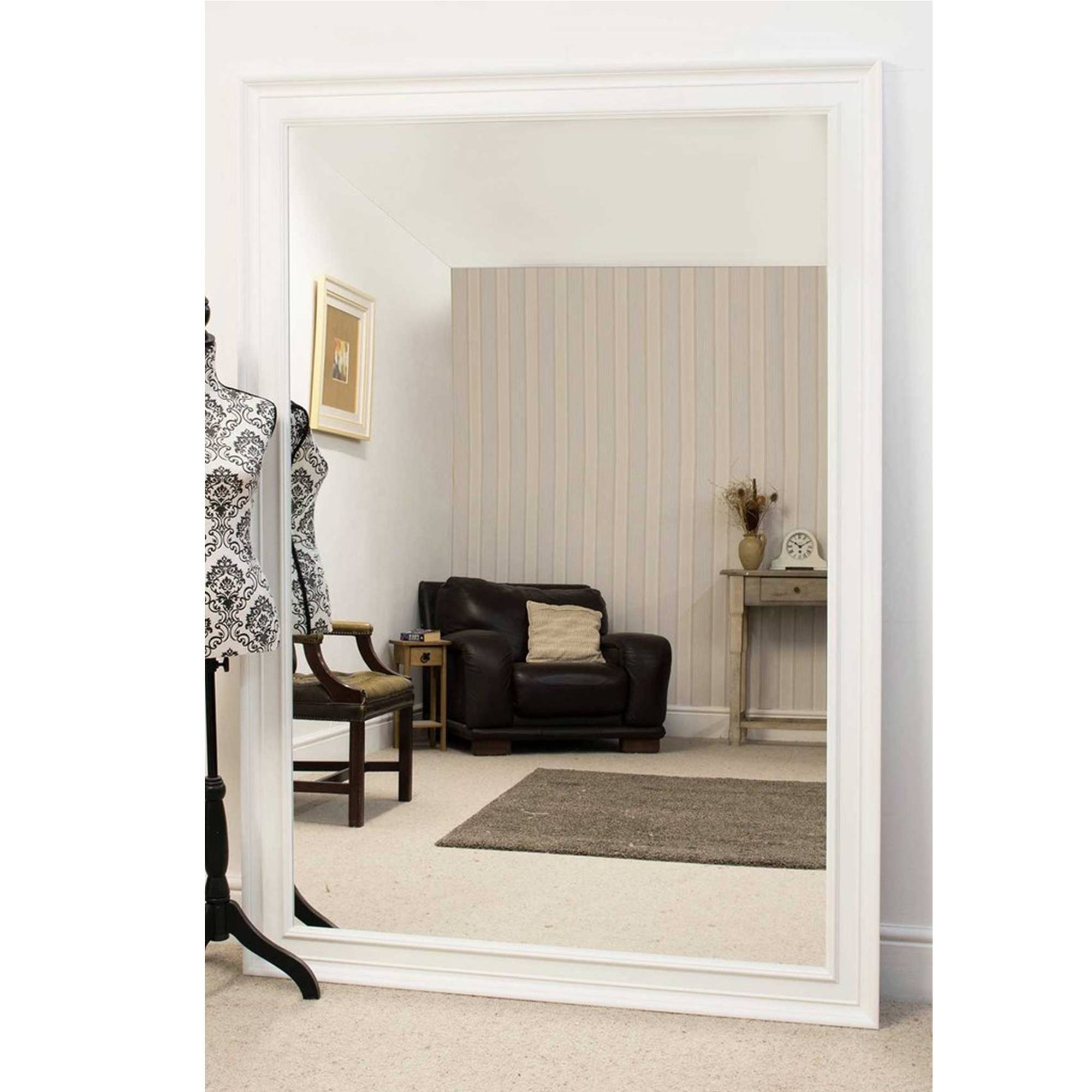Large White Antique French Style Mirror | Ornate White Mirrors for Large Ornate White Mirrors (Image 19 of 25)