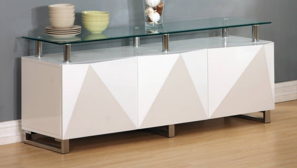 Large White High Gloss Sideboard - Homegenies intended for High Gloss Black Sideboards (Image 25 of 30)