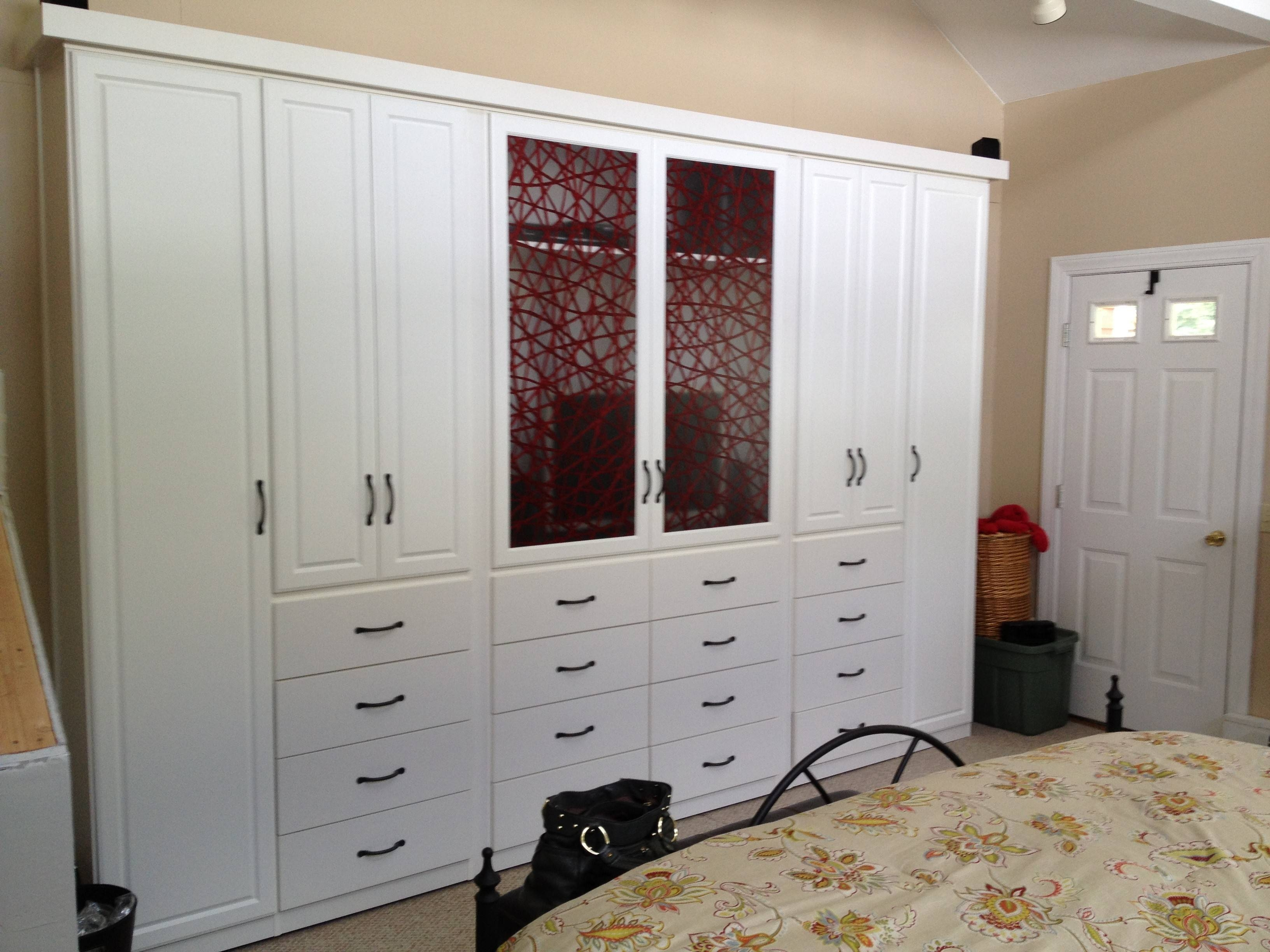 Large White Wooden Wardrobe With Drawers Also Storage Combined intended for White Wood Wardrobes With Drawers (Image 5 of 15)
