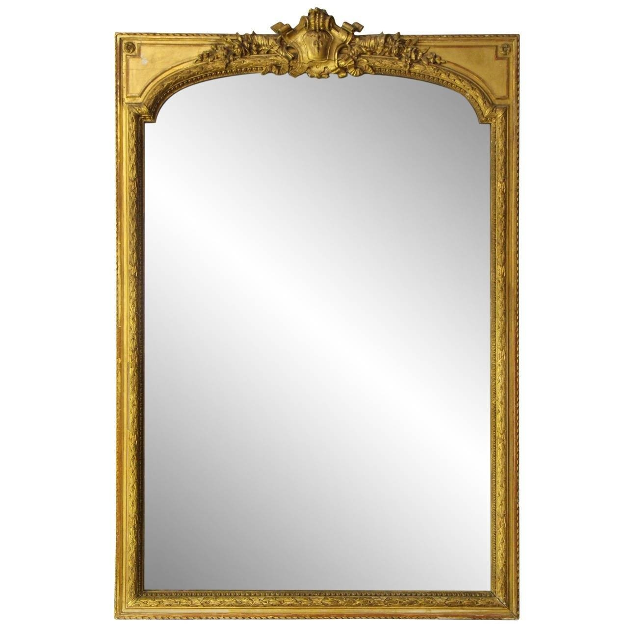 Late 1800S French Gold Gilt Ornate Mirror For Sale At 1Stdibs with Gold Arch Mirrors (Image 16 of 25)
