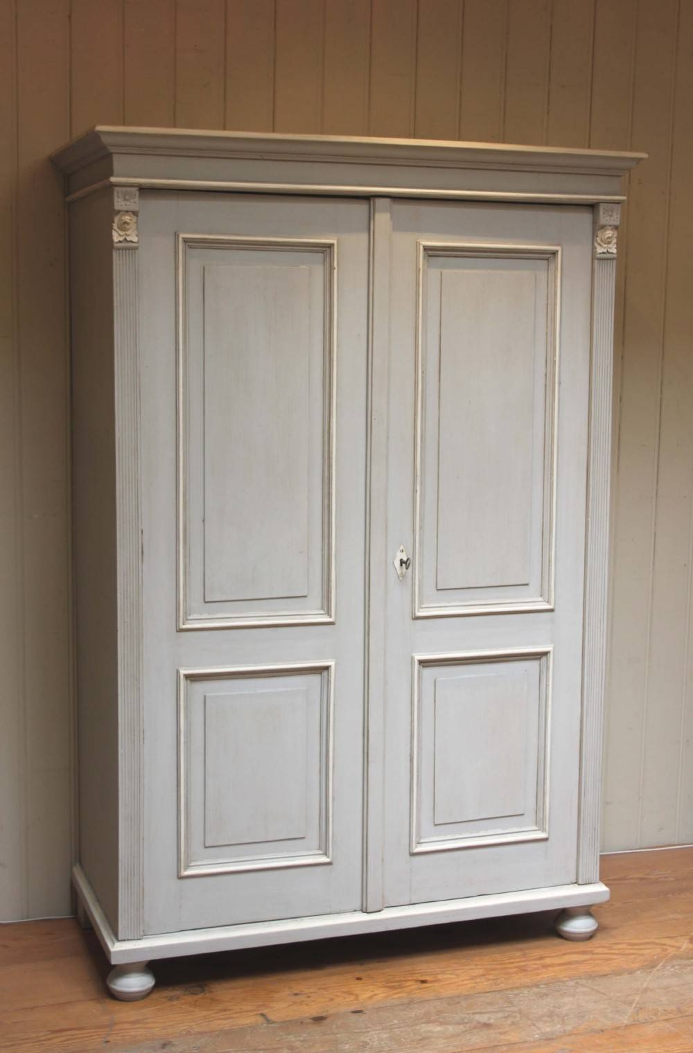 Late 19Th Century Continental Painted Two Door Wardrobe | 285749 inside Painted Wardrobes (Image 5 of 15)