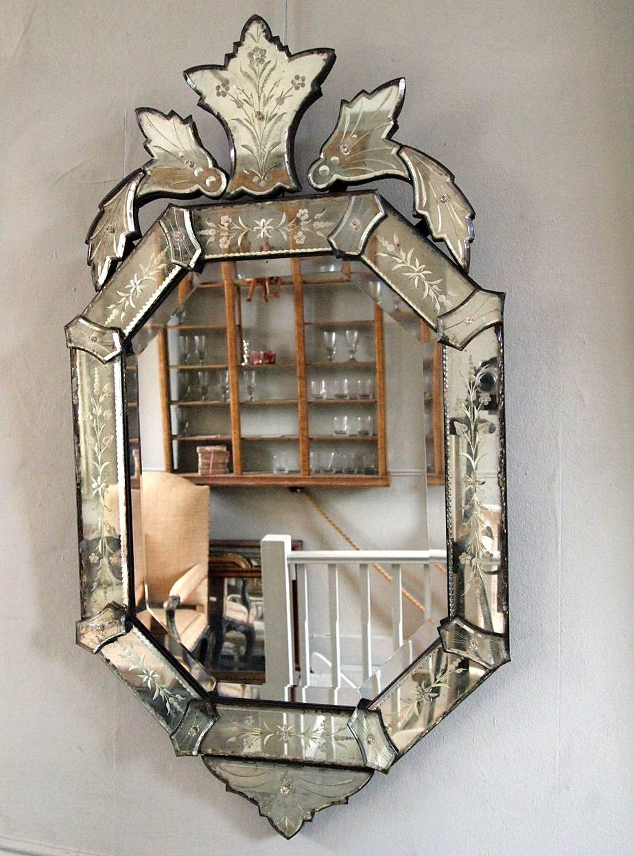 Late 19Th Century Venetian Mirror › Puckhaber Decorative Antiques regarding Venetian Bevelled Mirrors (Image 13 of 25)