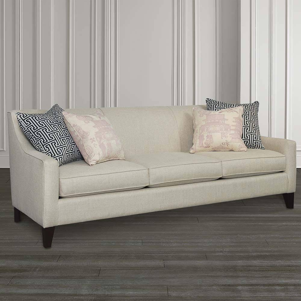Lauren Sofa With Sloped Arms | Living Room | Bassett Furniture regarding Bassett Sofa Bed (Image 14 of 30)