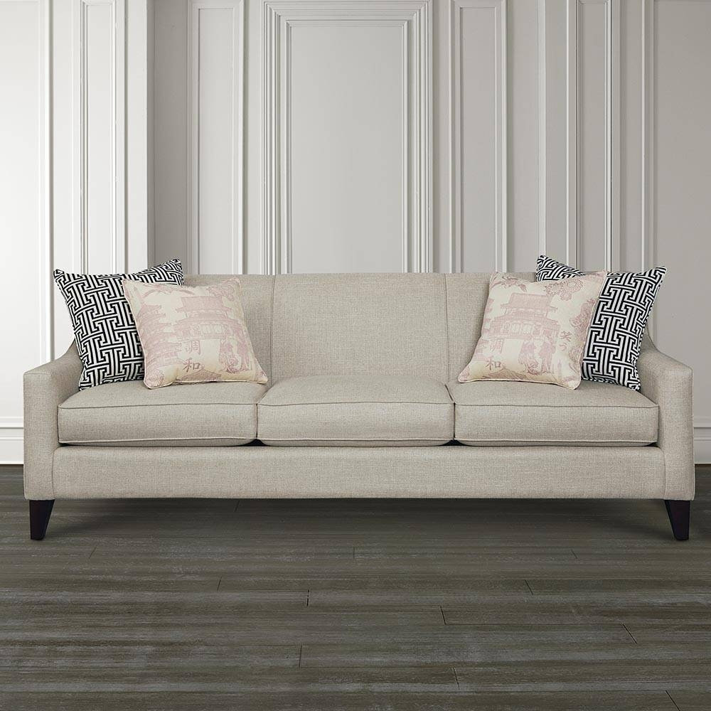 Lauren Sofa With Sloped Arms | Living Room | Bassett Furniture throughout Bassett Sofa Bed (Image 15 of 30)