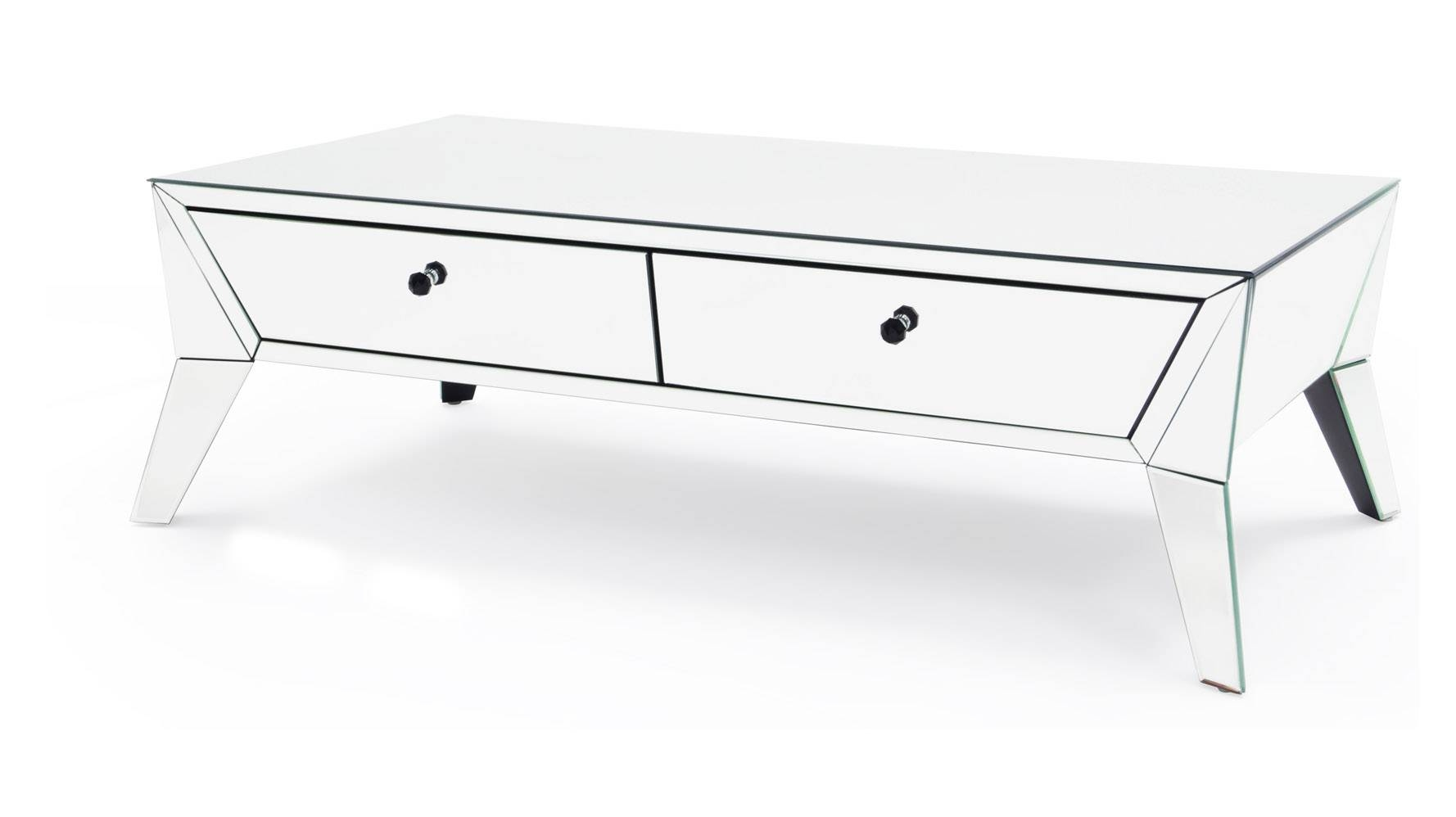 Lave Mirrored Glass Coffee Table | Zuri Furniture throughout Mirrored Coffee Tables (Image 16 of 30)