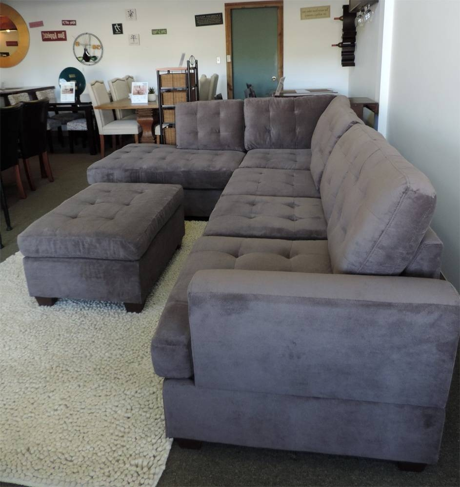 Lazyboy Sectional Leather Sofa With Chaise Lazboy Furniture. Best for Charcoal Grey Sofas (Image 15 of 30)