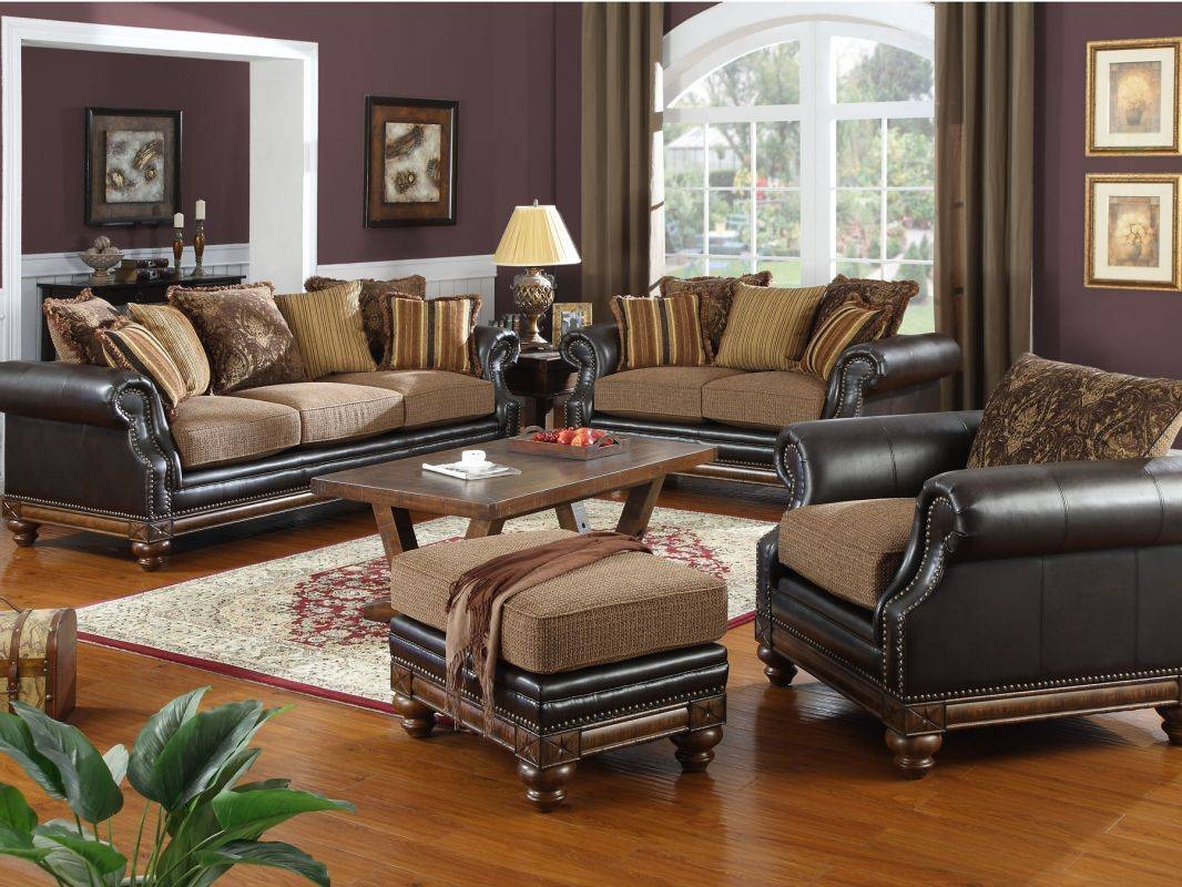 Leather And Fabric Furniture Living Room Sets — Liberty Interior pertaining to Leather And Cloth Sofa (Image 10 of 25)