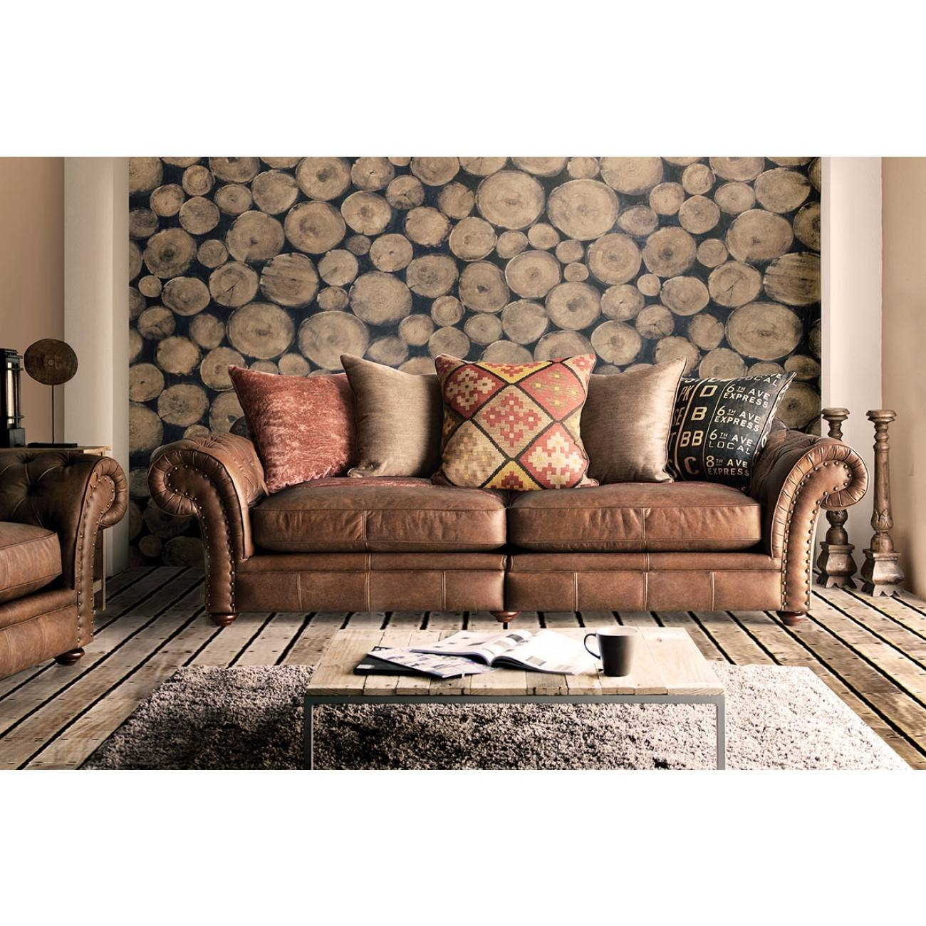 Leather And Fabric Sofas 61 With Leather And Fabric Sofas throughout Leather And Cloth Sofa (Image 13 of 25)
