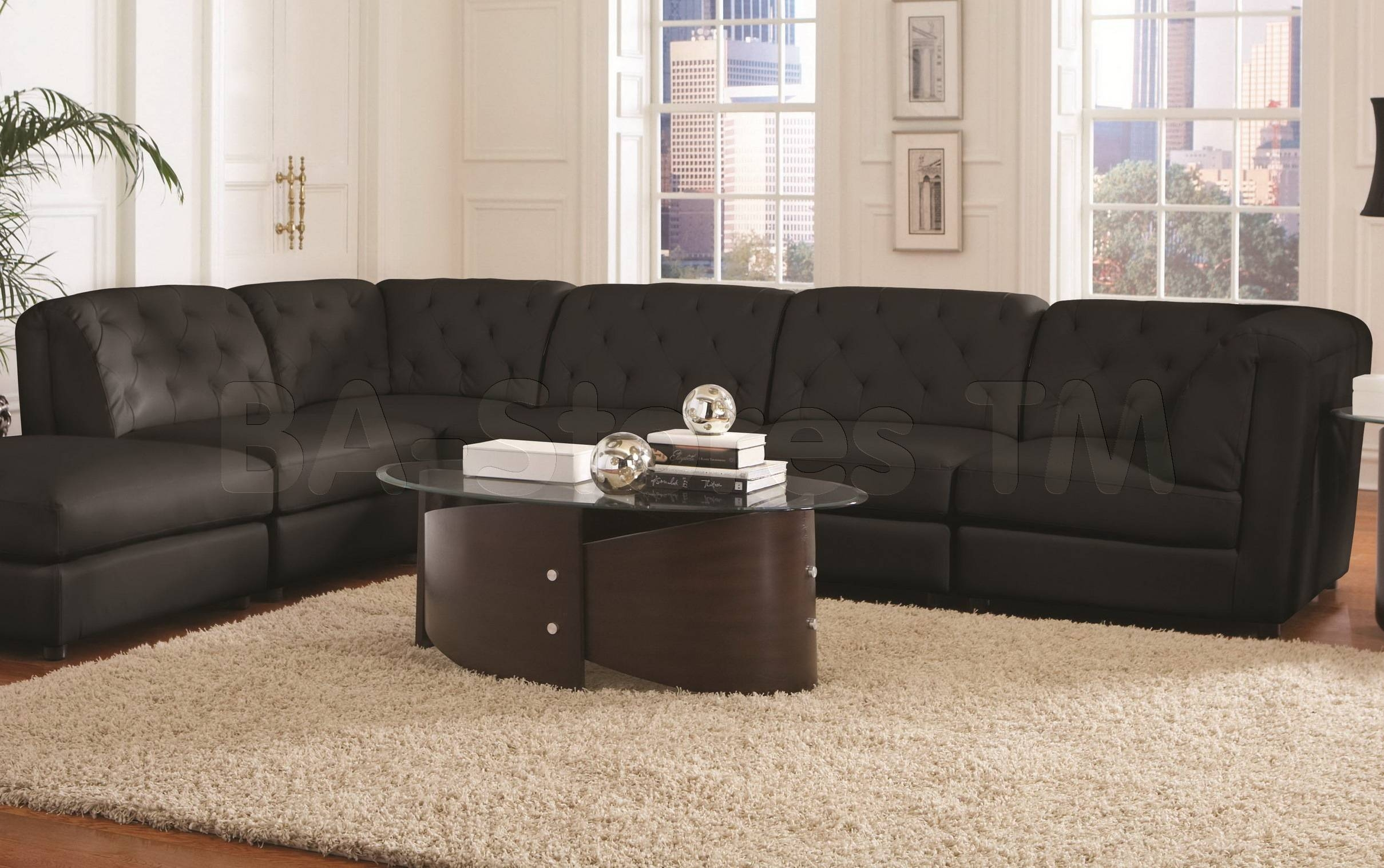 Leather And Suede Sectional Sofa - Leather Sectional Sofa inside Leather and Suede Sectional Sofa (Image 19 of 25)