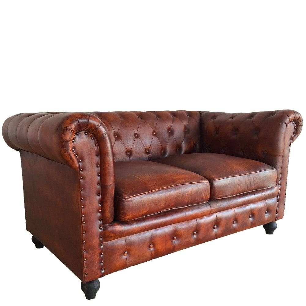 Leather Chesterfield 2-Seater Sofa | Wallace Sacks regarding Chesterfield Furniture (Image 26 of 30)