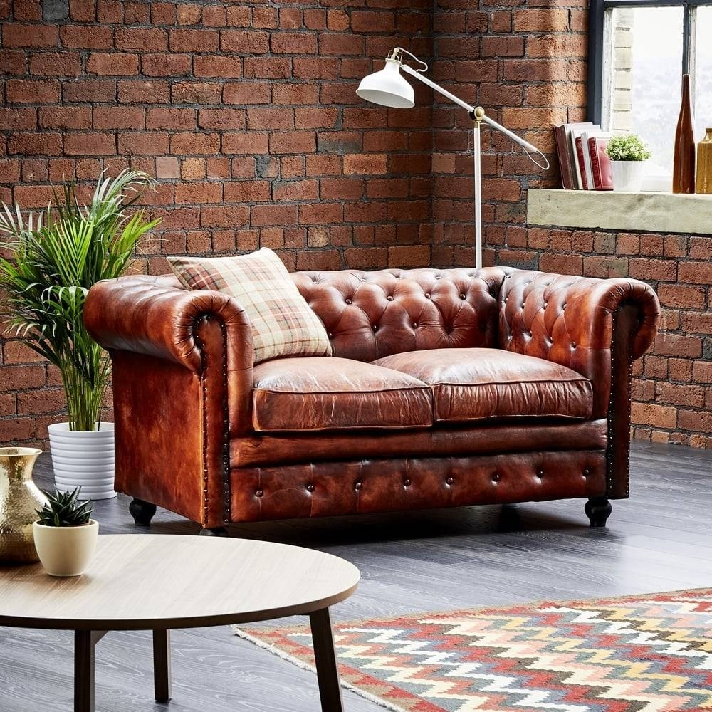 Leather Chesterfield 3 Seater Sofa | Wallace Sacks Regarding Chesterfield Sofas (View 25 of 30)