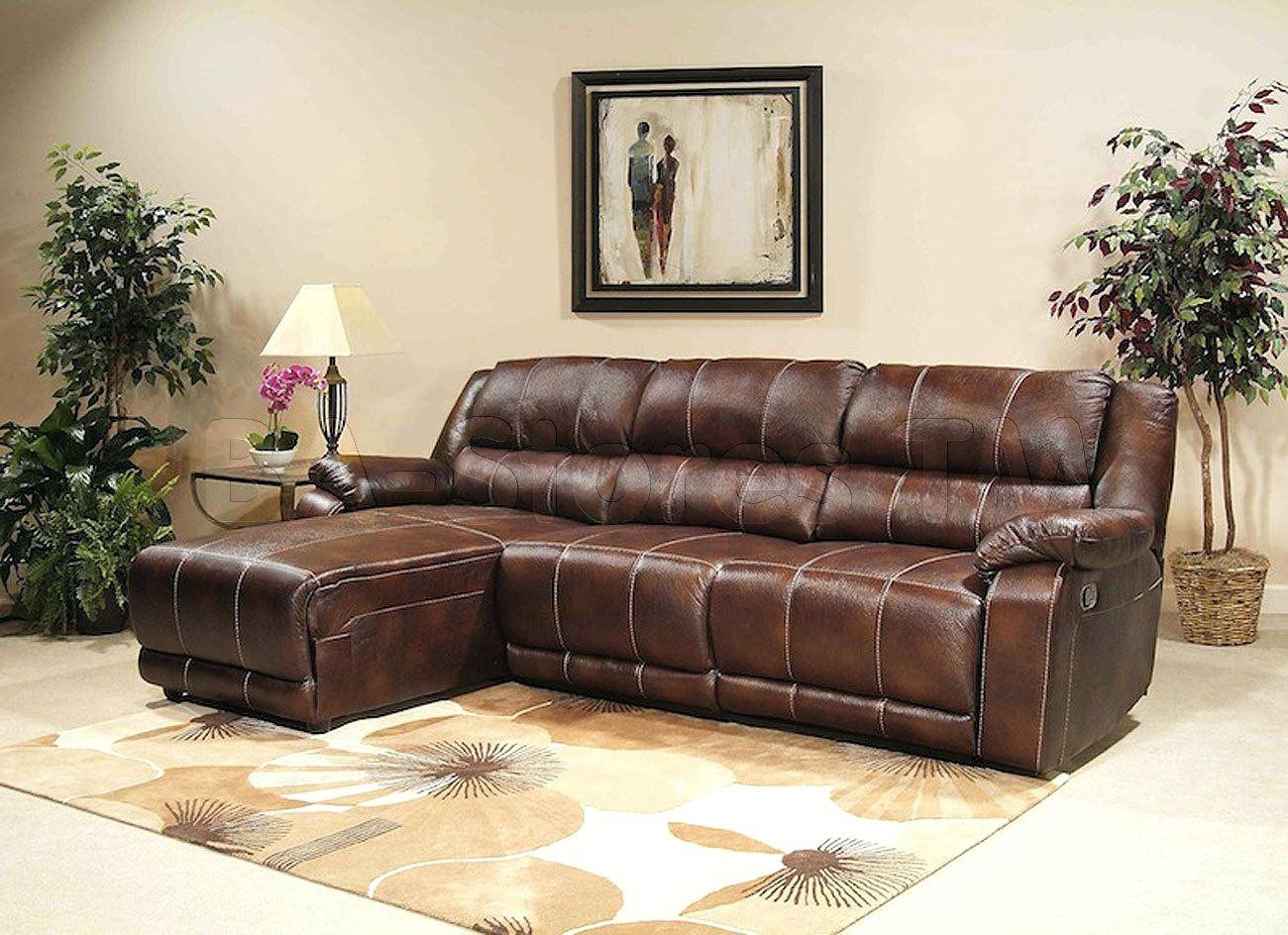 Leather Chesterfield Sectional Homelegance Gaines Sofa Brown with Chesterfield Recliners (Image 15 of 30)