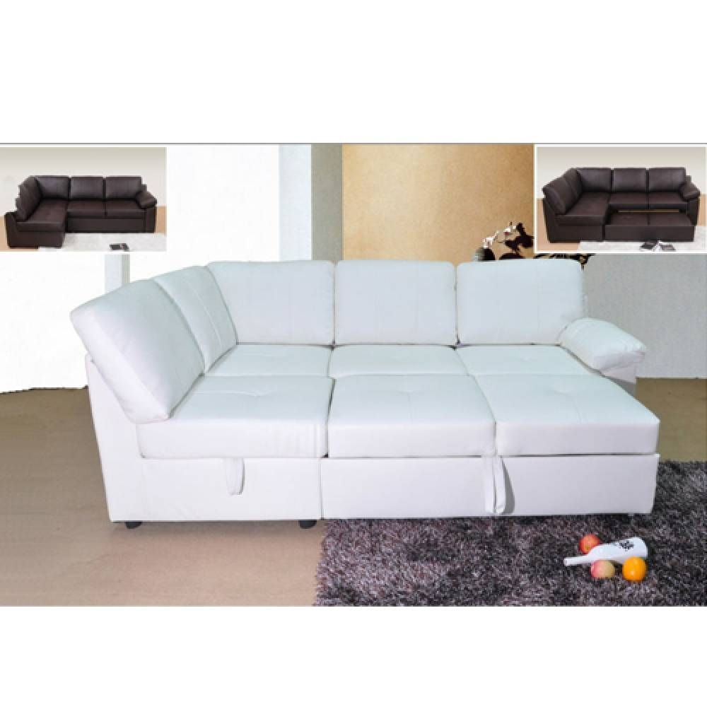 Leather Corner Sofa Bed | Tehranmix Decoration pertaining to Leather Corner Sofa Bed (Image 21 of 30)