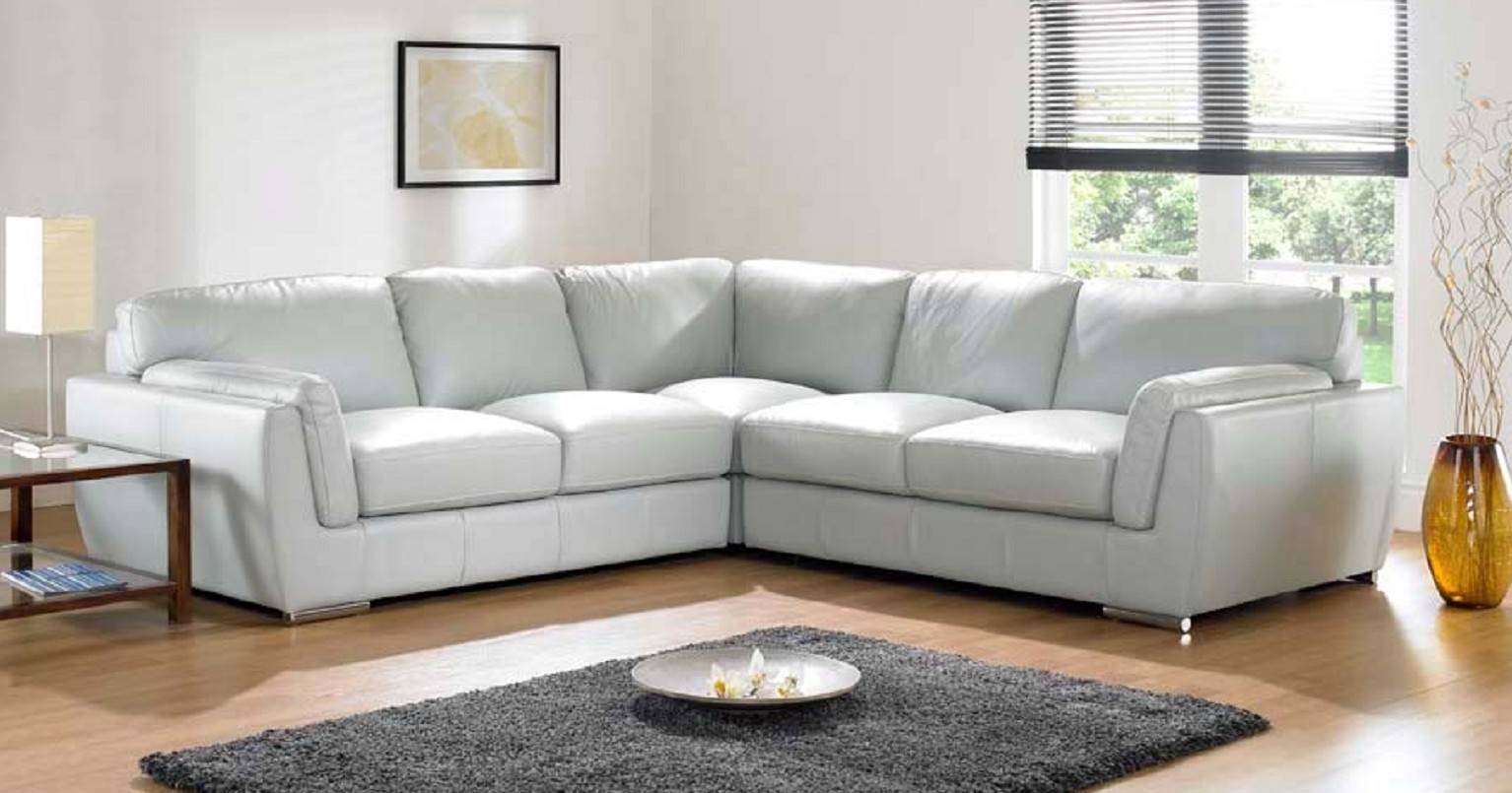 Leather Corner Sofa Grey | Tehranmix Decoration throughout White Leather Corner Sofa (Image 14 of 30)