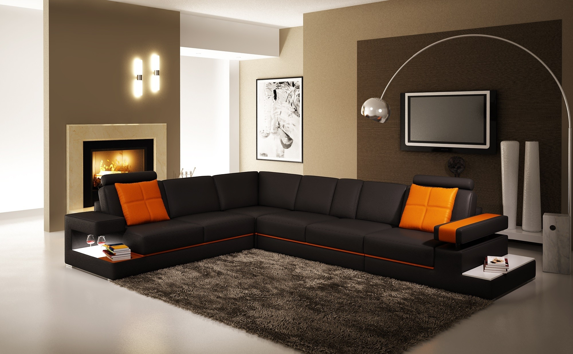 Leather Corner Sofa Second Hand | Tehranmix Decoration pertaining to Large Black Leather Corner Sofas (Image 13 of 30)