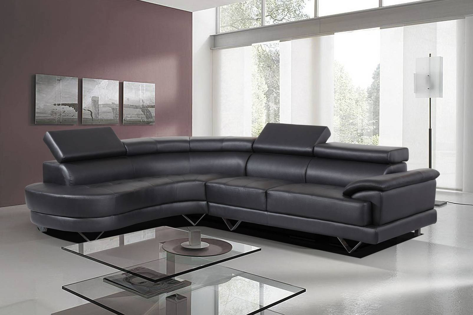 Leather Corner Sofa Second Hand | Tehranmix Decoration within Large Black Leather Corner Sofas (Image 15 of 30)