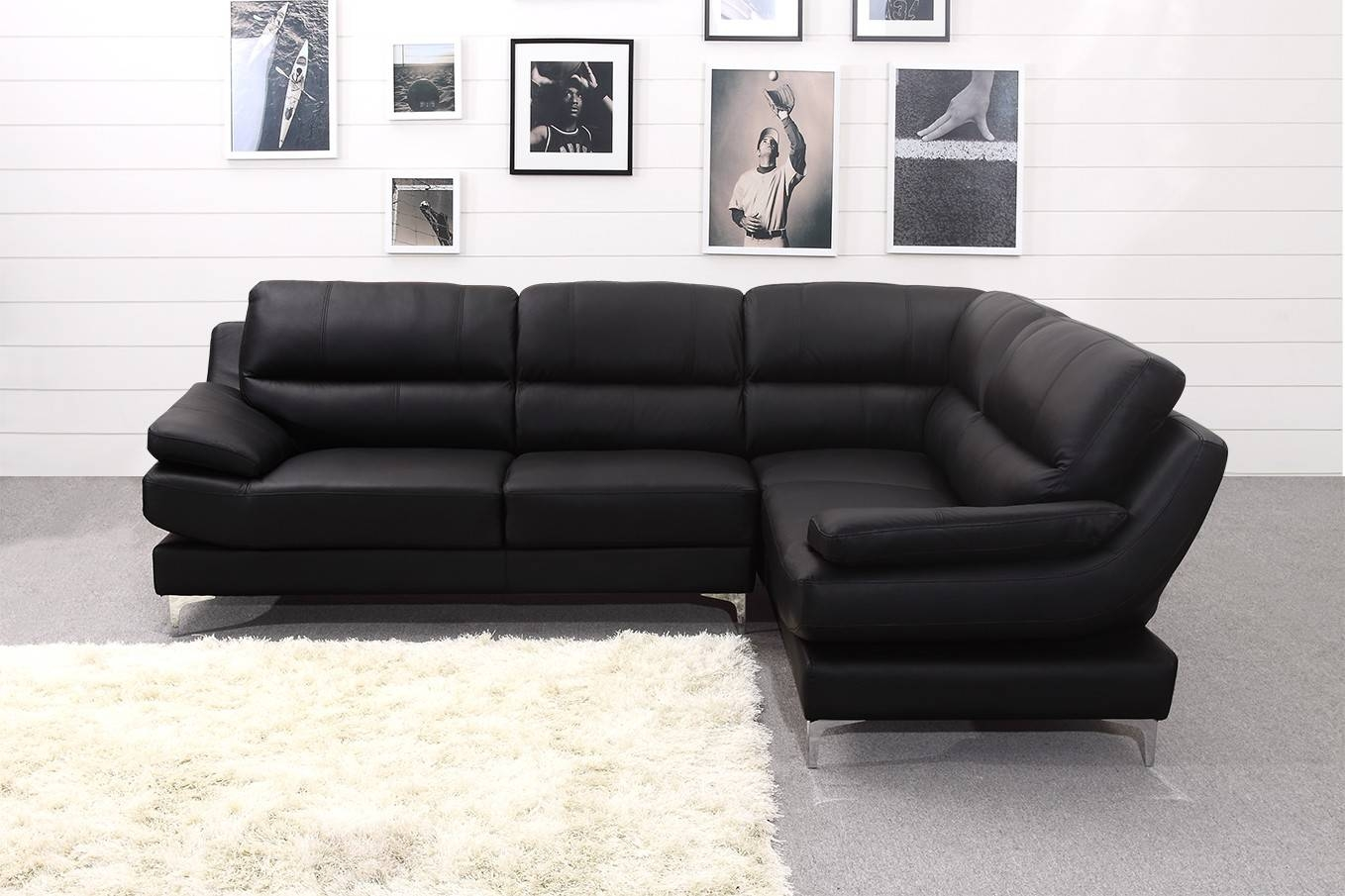 Leather Corner Sofa | Tehranmix Decoration inside Large Black Leather Corner Sofas (Image 18 of 30)