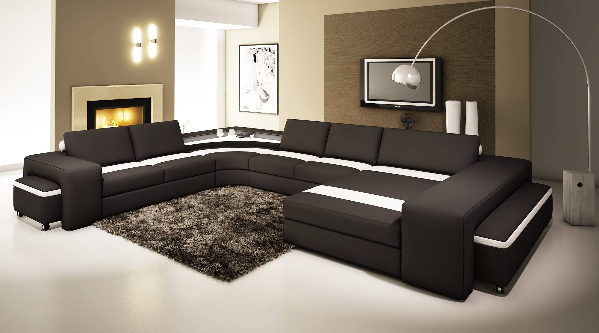 Leather Corner Sofa Uk | Tehranmix Decoration intended for Large Black Leather Corner Sofas (Image 16 of 30)