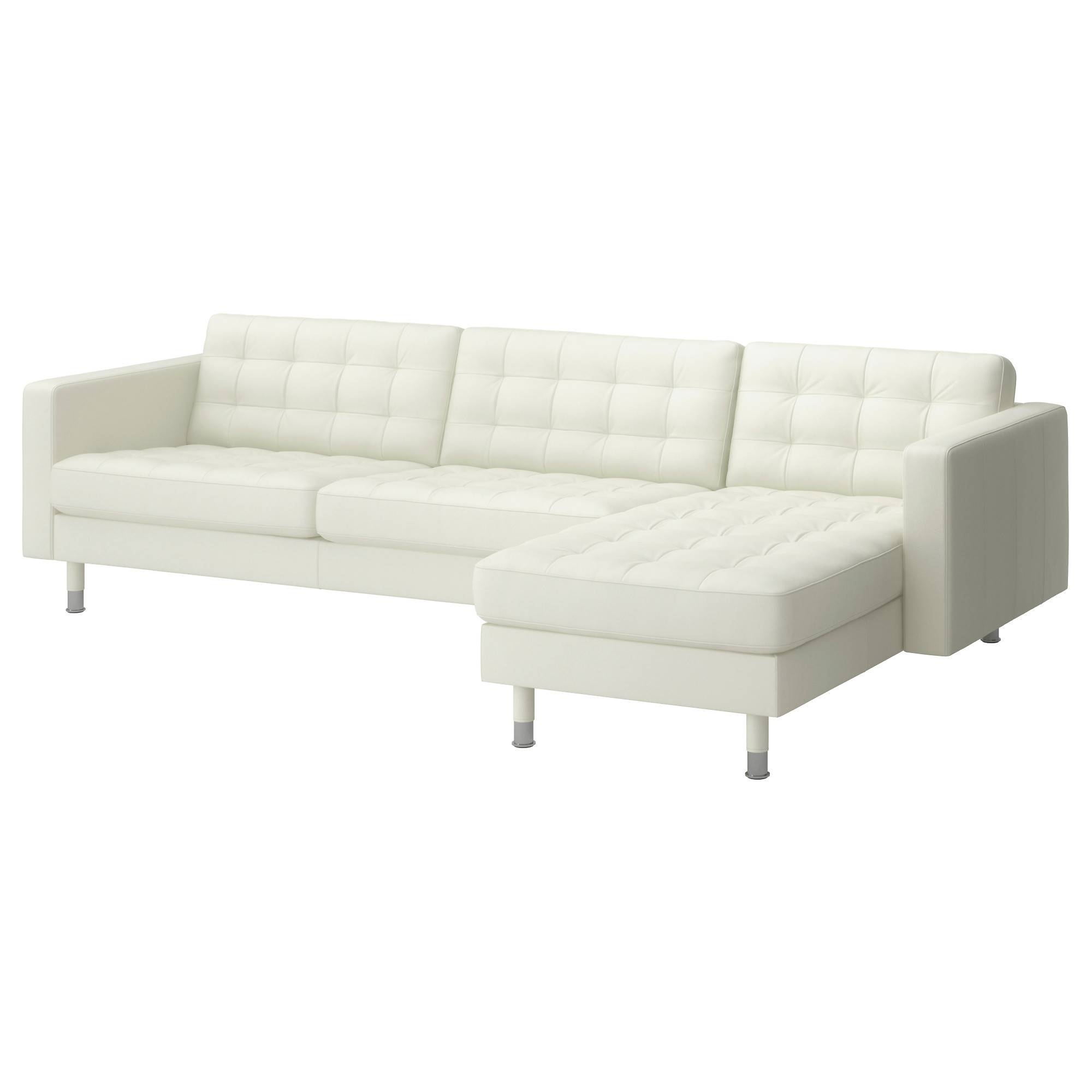 Leather & Faux Leather Couches, Chairs & Ottomans - Ikea for White Leather Sofas (Image 9 of 30)