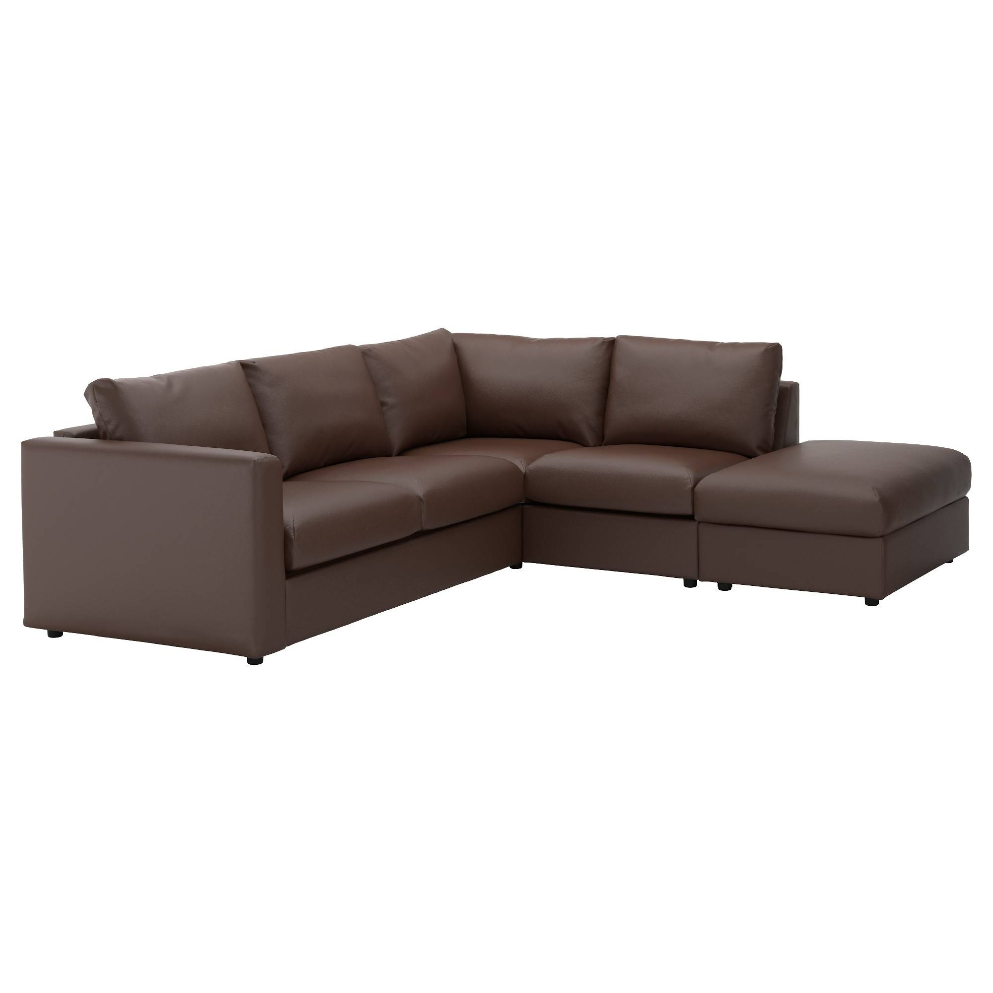 Leather & Faux Leather Couches, Chairs & Ottomans - Ikea in Sleek Sectional Sofa (Image 12 of 25)