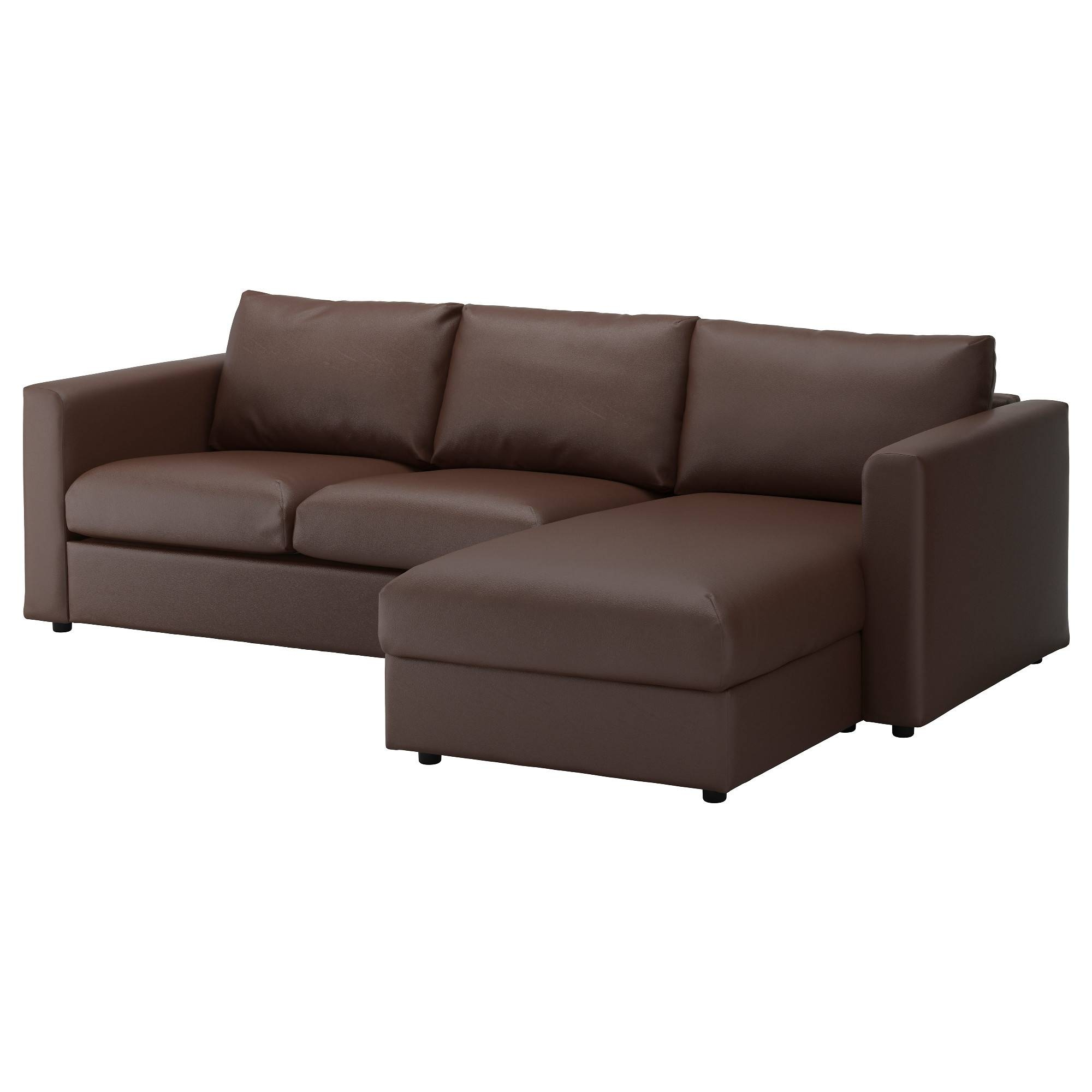 Leather & Faux Leather Couches, Chairs & Ottomans - Ikea pertaining to Cushion Sofa Beds (Image 12 of 30)
