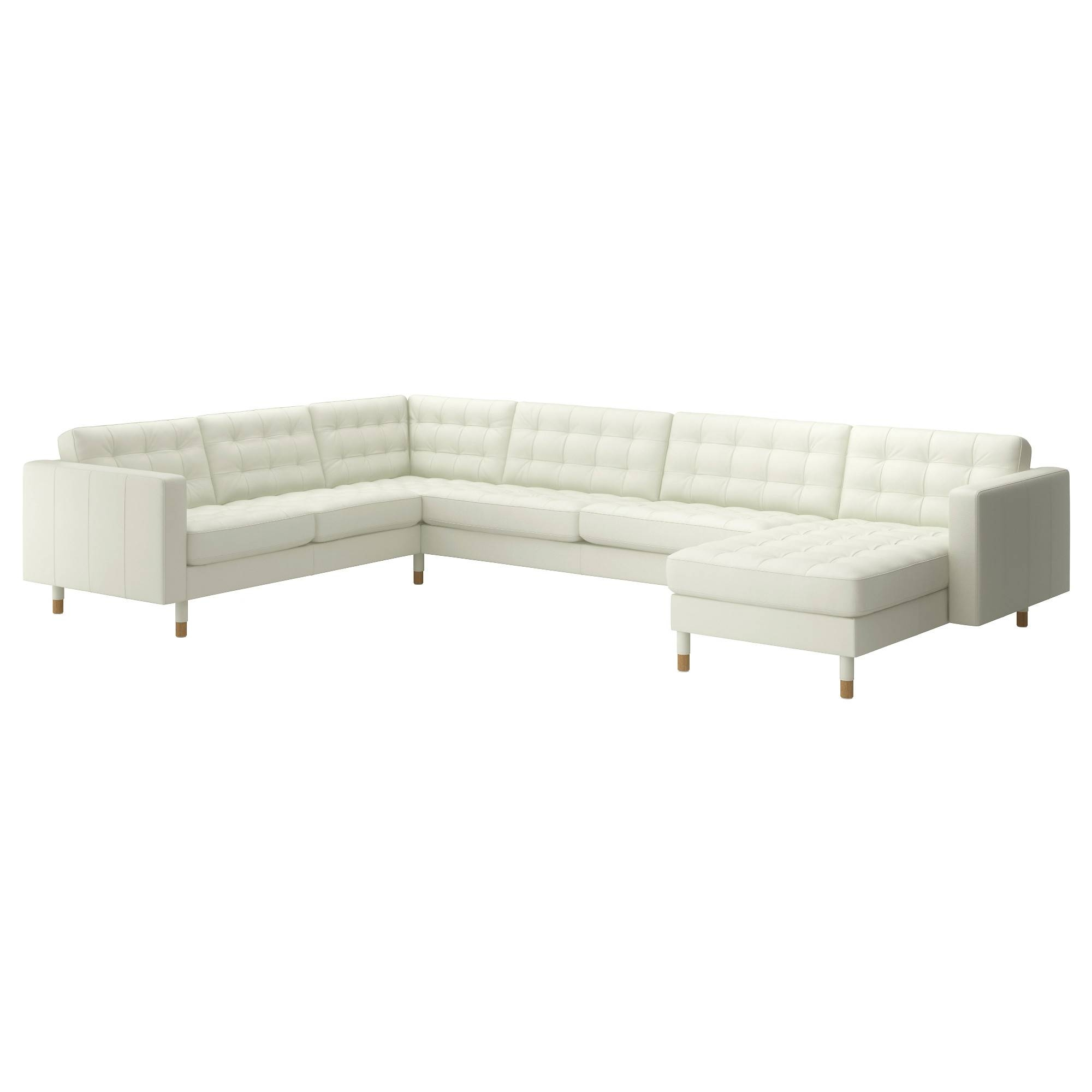 Leather & Faux Leather Couches, Chairs & Ottomans - Ikea regarding White Sofa Chairs (Image 15 of 30)