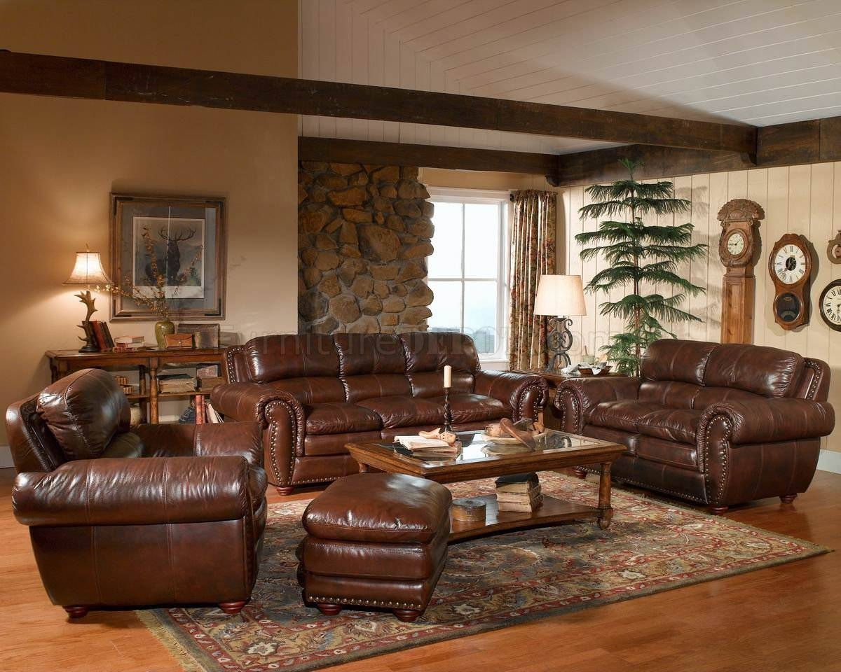 Leather Italia Aspen Brown Sofa & Loveseat Set W/options throughout Aspen Leather Sofas (Image 20 of 30)