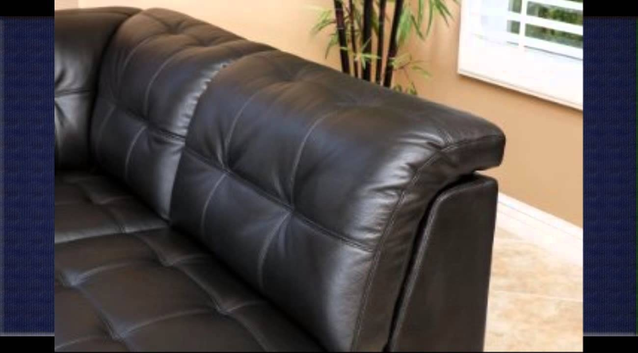 Leather Modular Sectional - Youtube with 6 Piece Leather Sectional Sofa (Image 19 of 30)