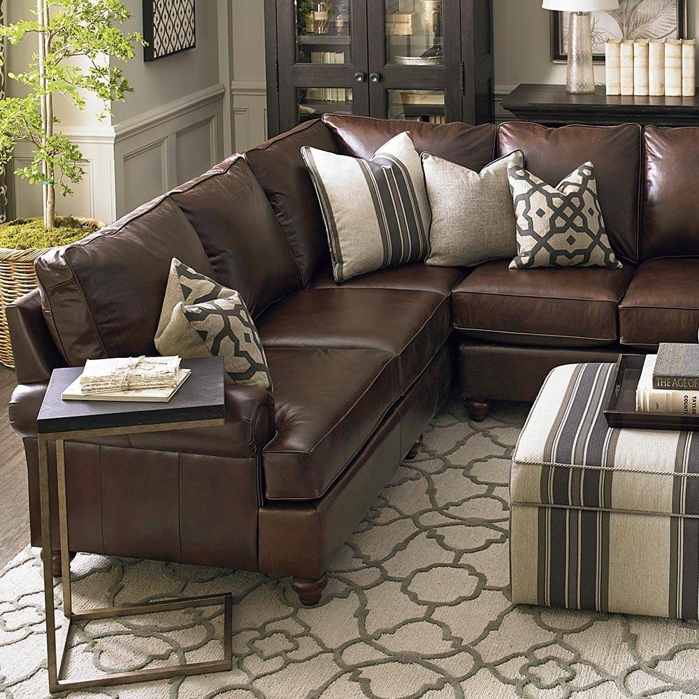 Leather Montague L Shaped Sectional in Bassett Sectional Sofa (Image 18 of 30)