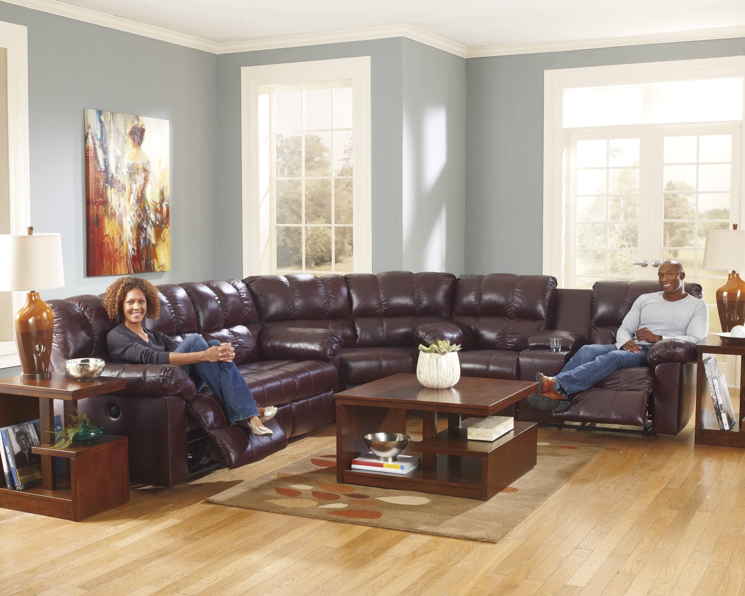 Leather Motion Recliner Sofas, Sectionals - Furniture Decor Showroom in Leather Motion Sectional Sofa (Image 16 of 25)