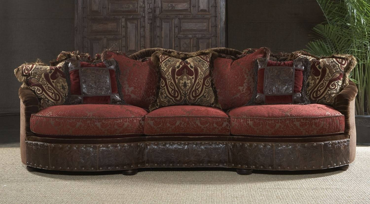 Leather Or Fabric Sofa in Leather And Cloth Sofa (Image 15 of 25)
