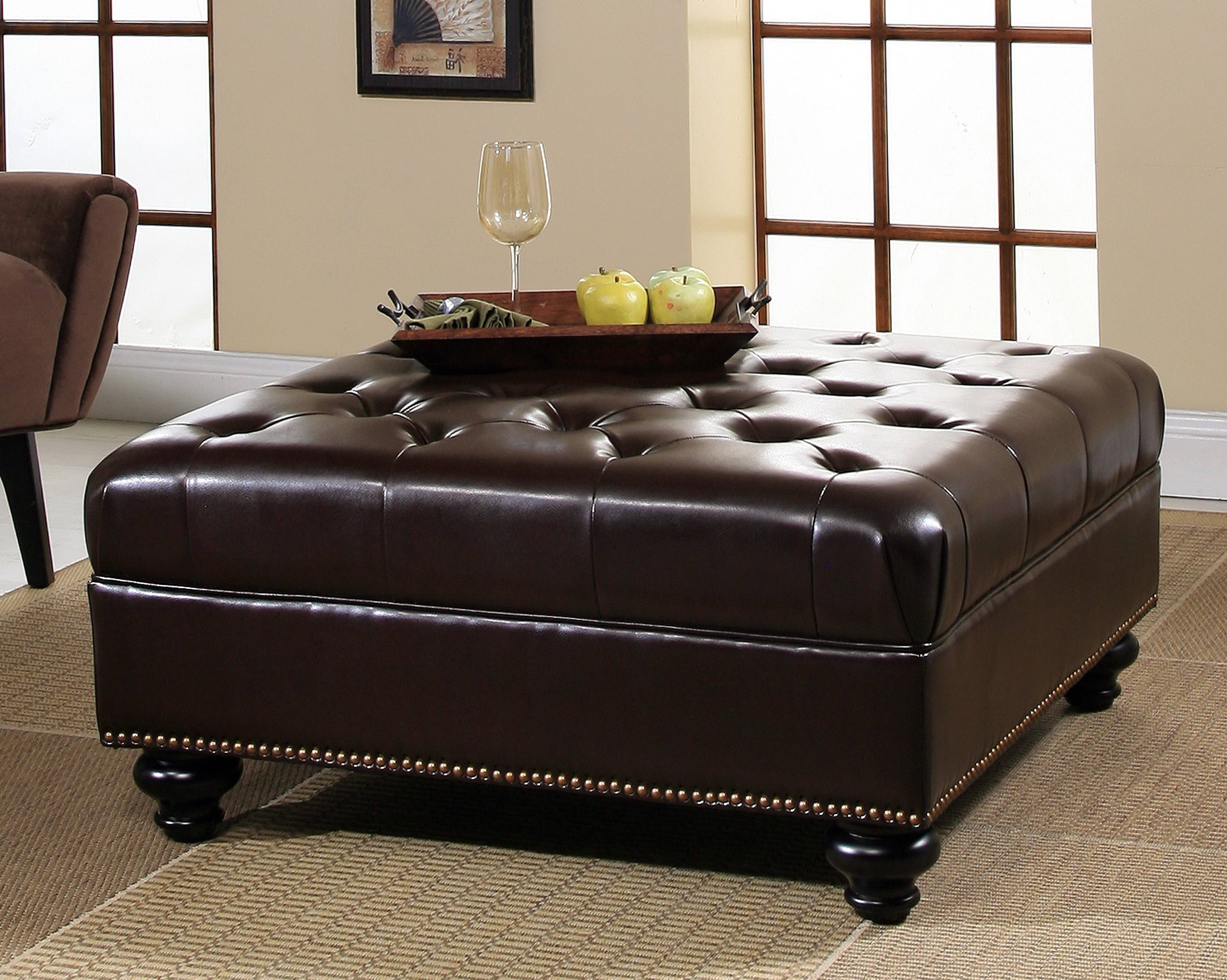 Leather Ottoman Furniture Guide - Leather Sofa Guide for Leather Storage Sofas (Image 14 of 30)