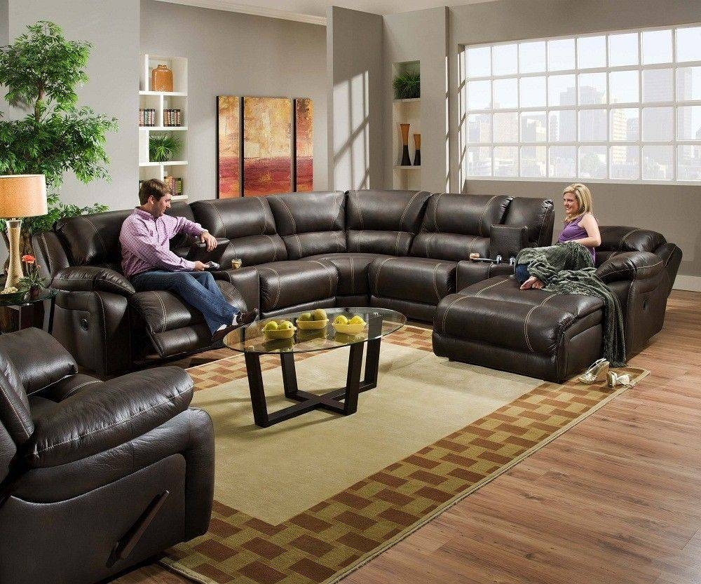 Leather Reclining Sectional Sofa With Chaise – Hotelsbacau Intended For Contemporary Black Leather Sectional Sofa Left Side Chaise (View 25 of 30)