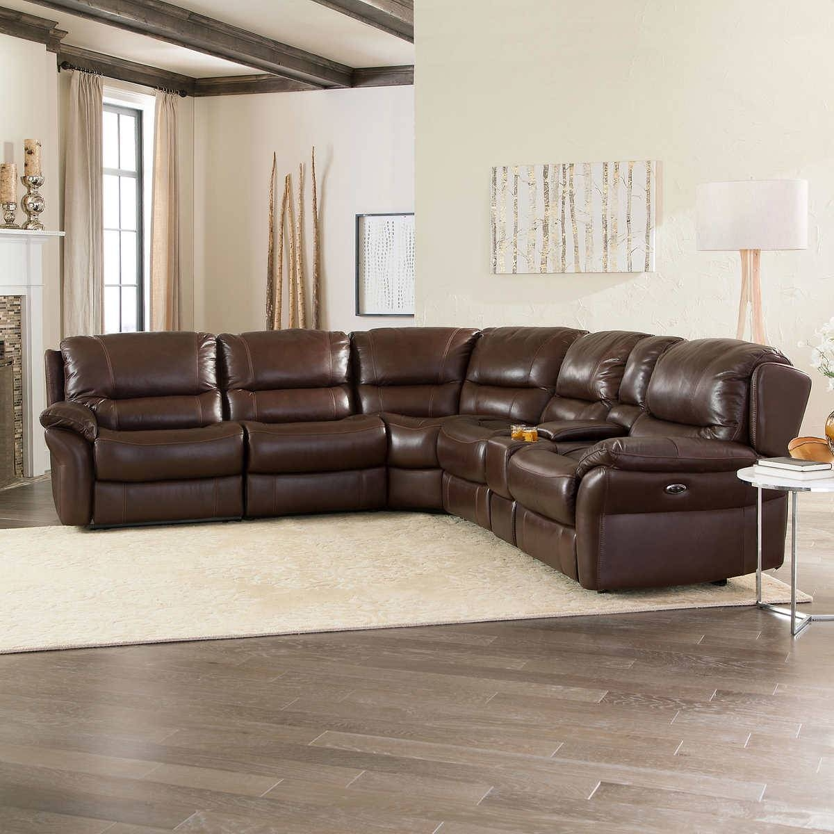 6 Piece Leather Sectional Sofa Stacey Leather 6 Piece