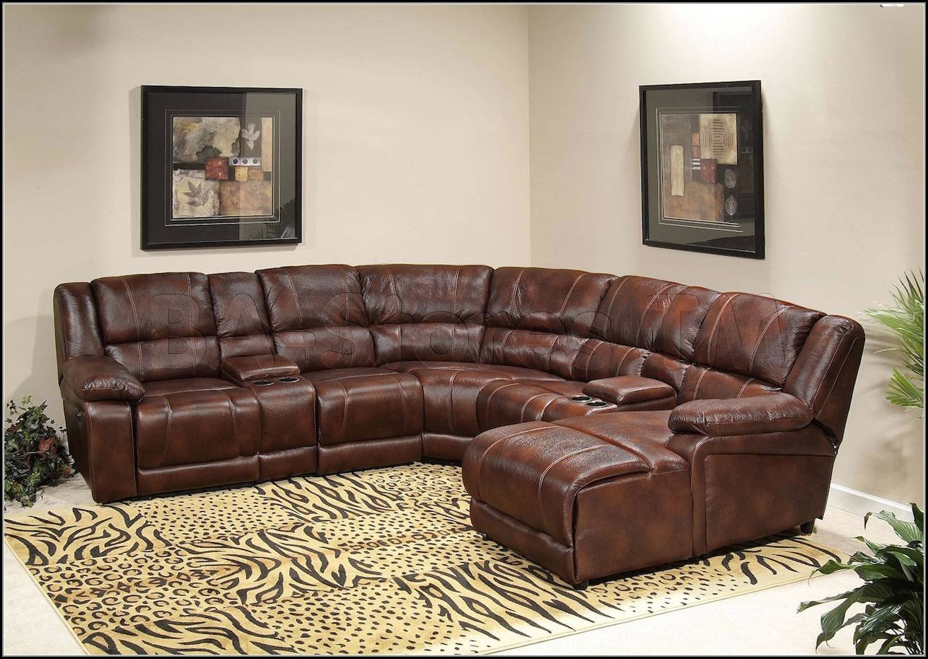 Leather Sectional Sofa With Recliners | Tehranmix Decoration throughout Sectional Sofa Recliners (Image 17 of 30)