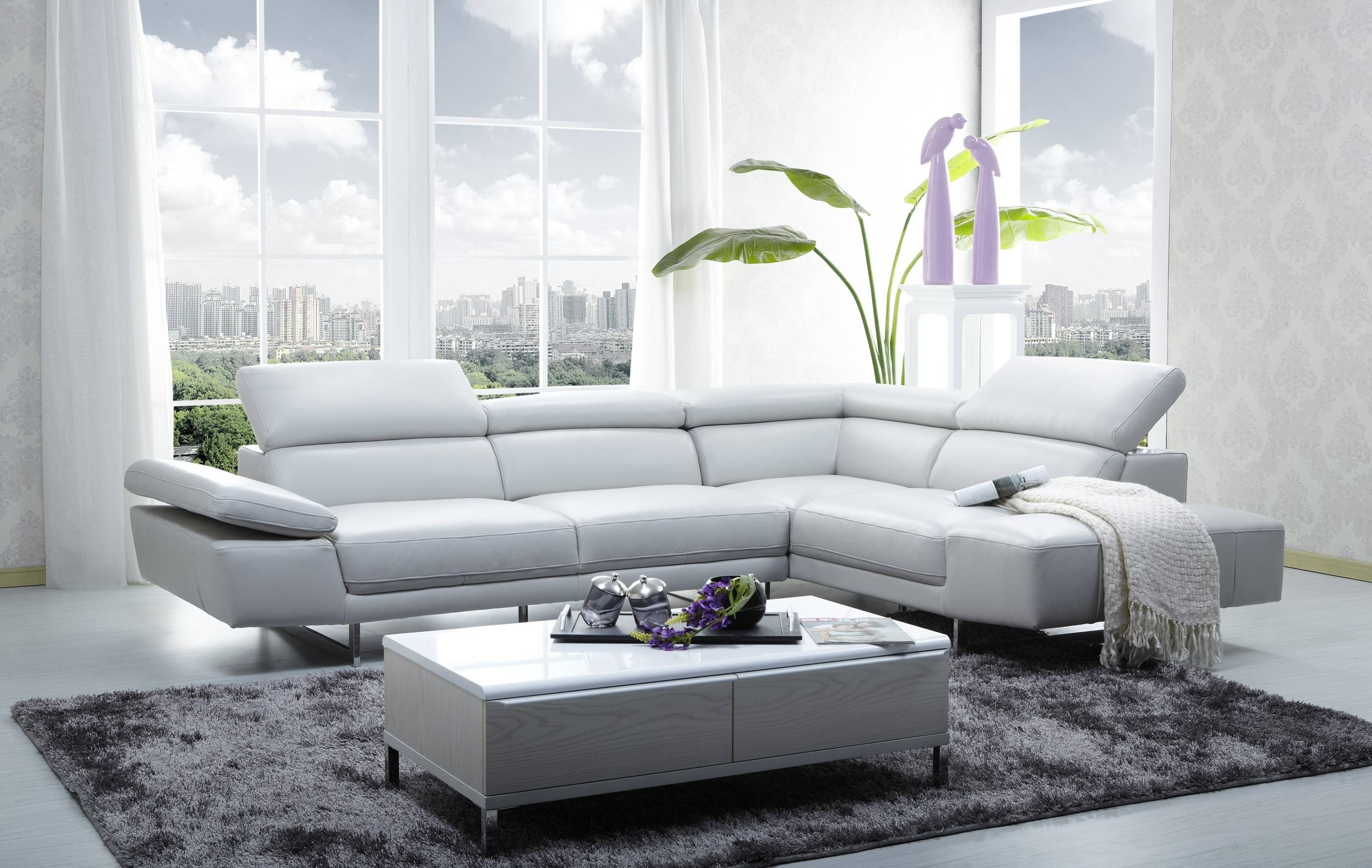 Leather Sectionals Hottest Home Design regarding Modern Sofas Sectionals (Image 13 of 30)