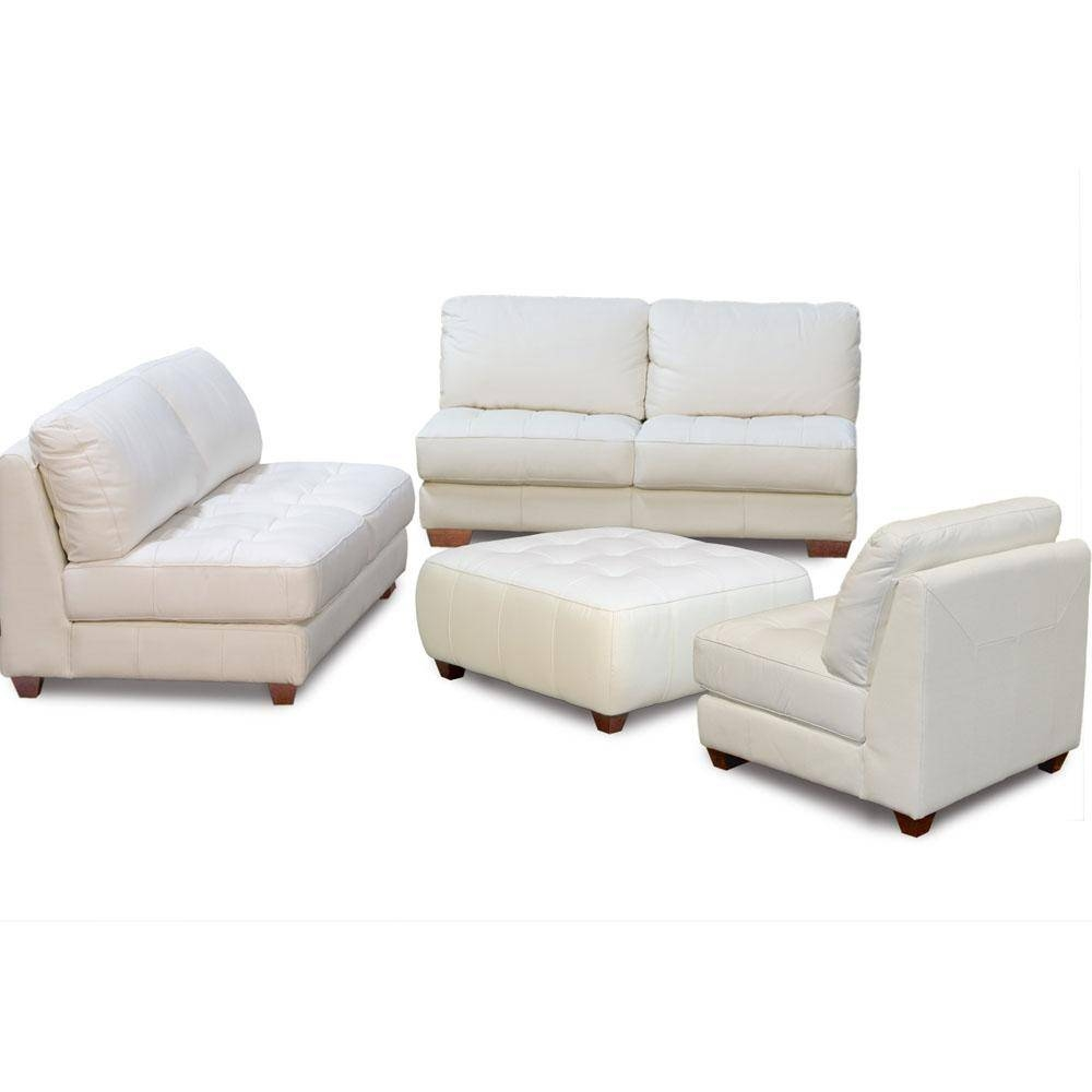 Leather Sofa And Chair With Ottoman All Leather Tufted Seat Sofa inside Sofa Chair And Ottoman (Image 6 of 15)