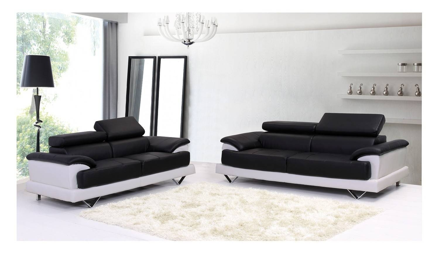 Leather Sofa At Isofas   Latest Designer Leather Sofas for White And Black Sofas (Image 20 of 30)