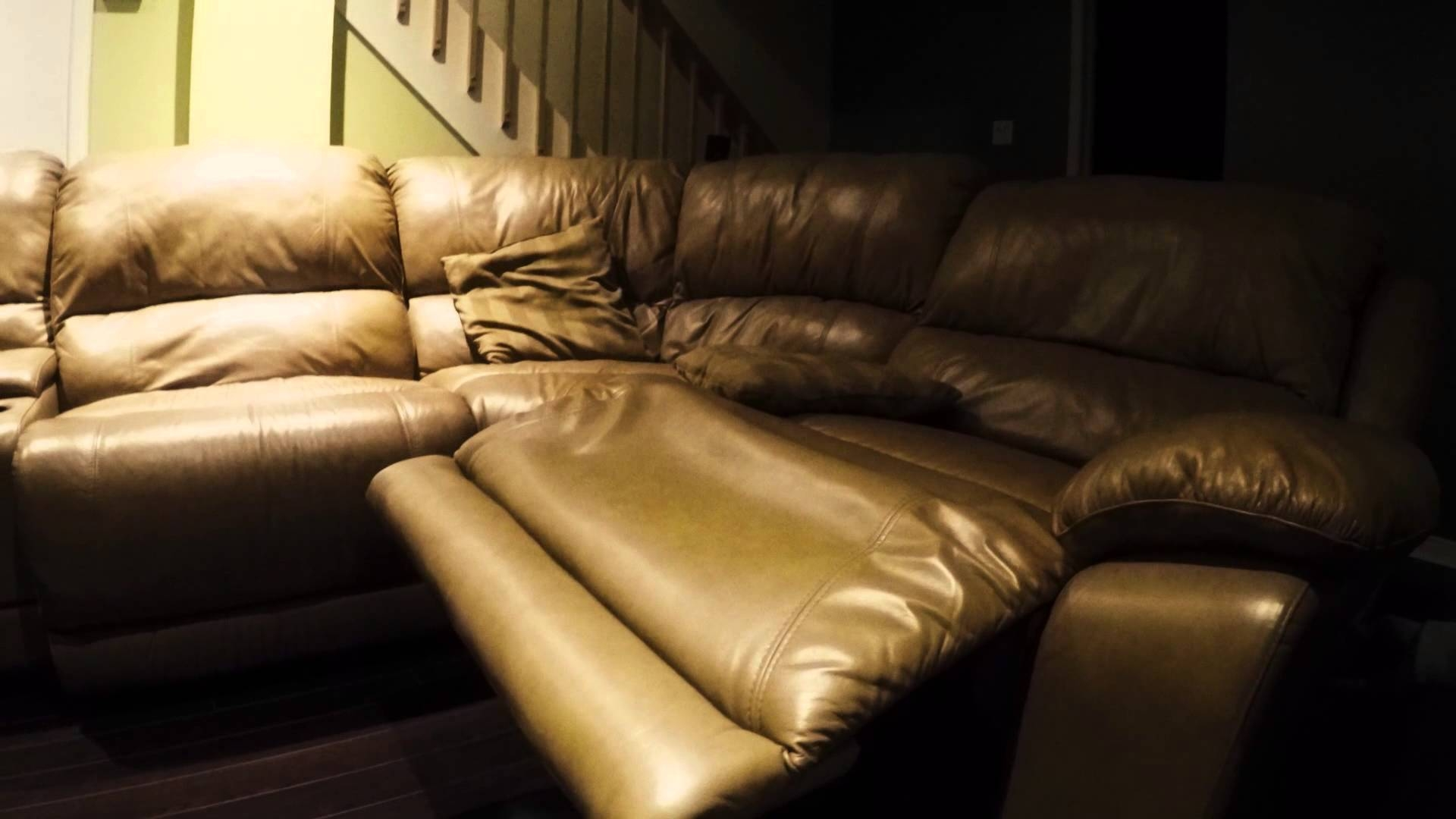 Leather Sofa (Cindy Crawford Home) Perfect Condition! - Youtube regarding Cindy Crawford Home Sectional Sofa (Image 27 of 30)