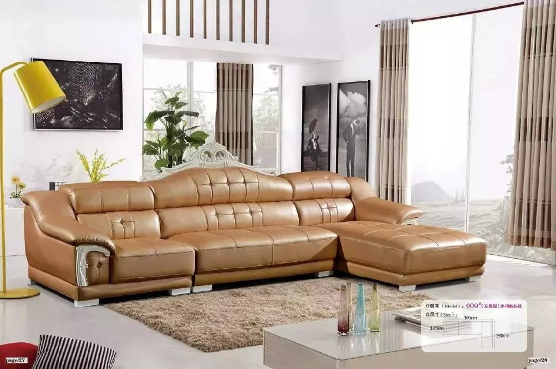 Leather Sofa Combination Jane European Aristocratic Wood Small with European Leather Sofas (Image 14 of 30)