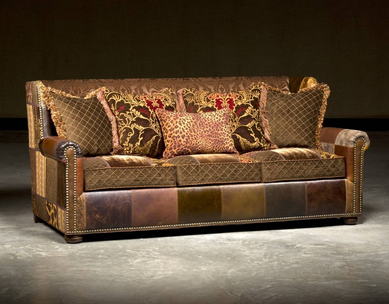 Leather Sofa In Patches, High End Furnishings with regard to High End Sofa (Image 21 of 30)